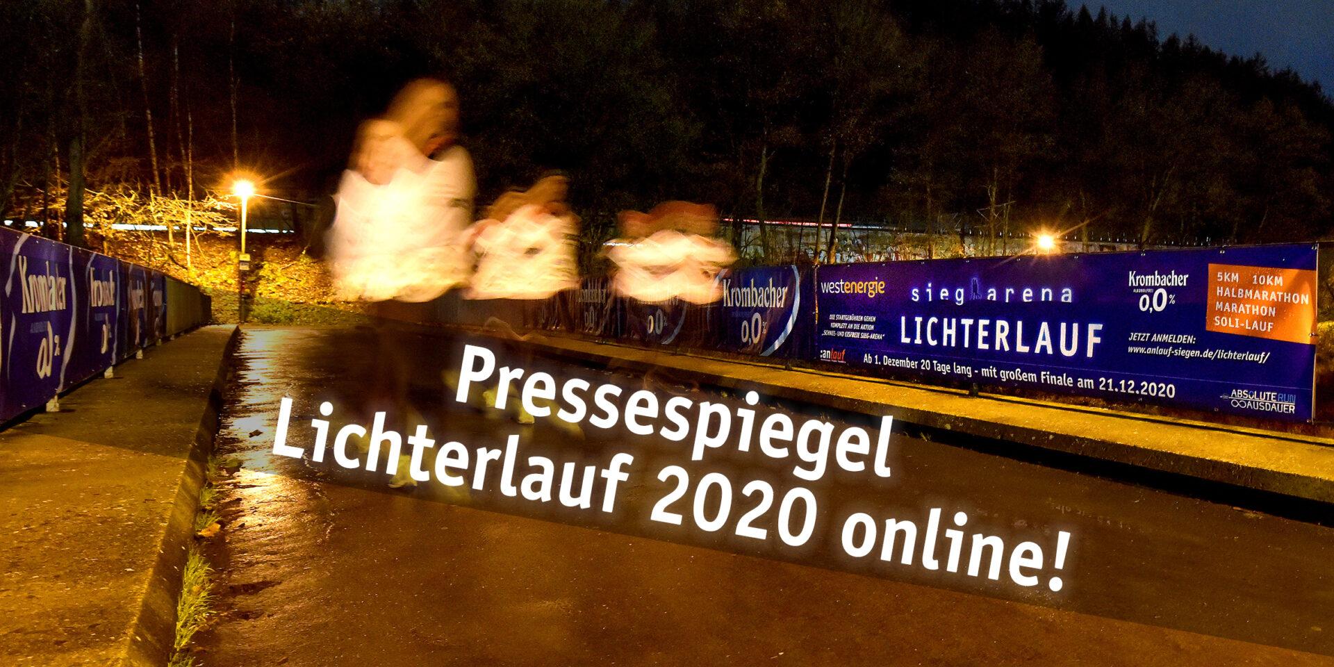 Pressespiegel zum Lichterlauf online